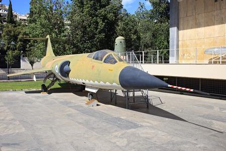 interceptor: Plane on display of War museum, Athens, Greece