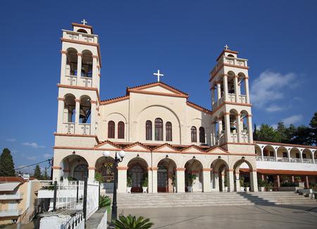 nafplio: church of Nafplio city in Greece Stock Photo