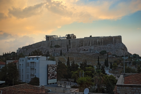 Athens Acropolis view from the Museum of Acropolis