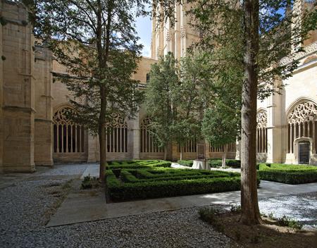 Segovia cathedral cloister, Spain Stock Photo