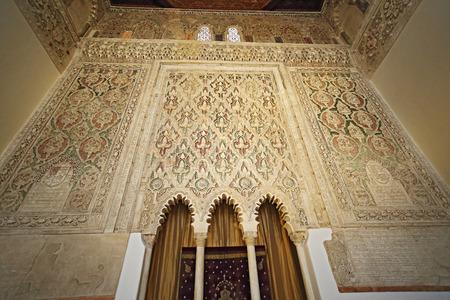 トレド、スペイン、2017 年 5 月 10 日。シナゴーグ デル Transito (シナゴーグ) インテリア、トレド、スペイン。これはスペインのユダヤ人の文化の例