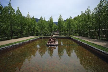 Fountain of Royal Palace at La Granja de San Ildefonso in Segovia province, Castilla y Leon, Spain Stock Photo
