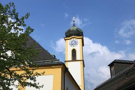 Church in Kufstein, Tyrol, Austria 免版税图像