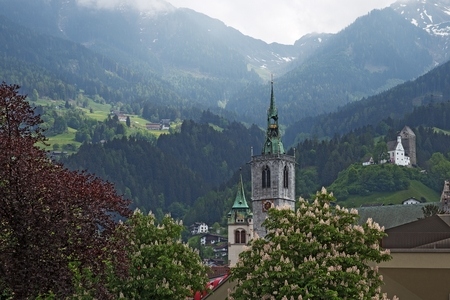 Church in small Tyrolien town Schwaz, Austria
