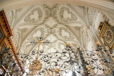 Hofkirche interior view, Innsbruck, Tyrol, Austria Banque d'images - 107818679