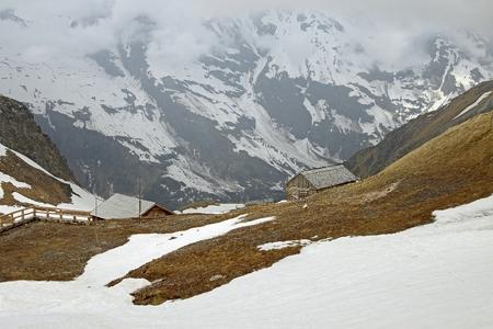 Grossglockner High Alpine Road (Grossglockner Hochalpenstrasse) mountain landscape, Austria Stock Photo
