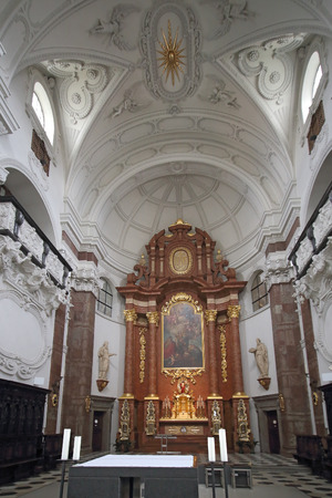 Jesuitical churh in Innsbruck, Austria