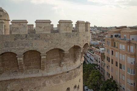 View of the Valencia from the Quart Towers (Torres de Quart) Stock Photo