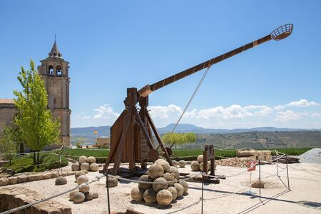 Alcala la Real medieval on hilltop, Andalusia, Spain Stock Photo