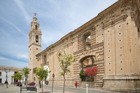 Streets and buildings of Esija - a small Andalusian town, Spain