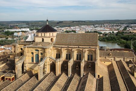 Mezquita - Cathedral of Cordoba view from bellfry Stock Photo