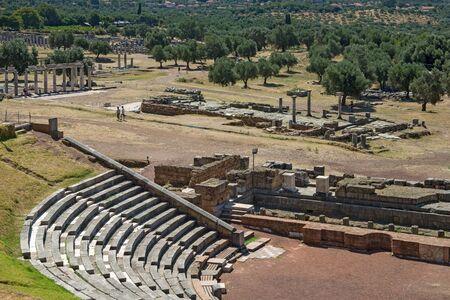 Ancient Messene city ruins of Odeon, Peloponnese, Greece