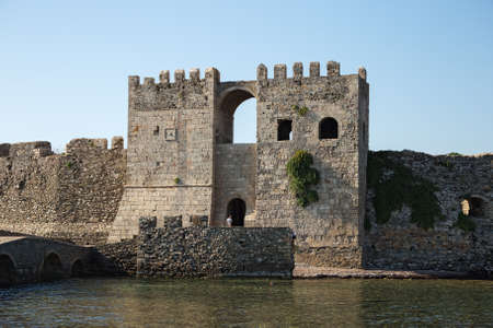 The Castle of Methoni - a medieval fortification in the port town of Methoni, Peloponnese, Greece Redactioneel