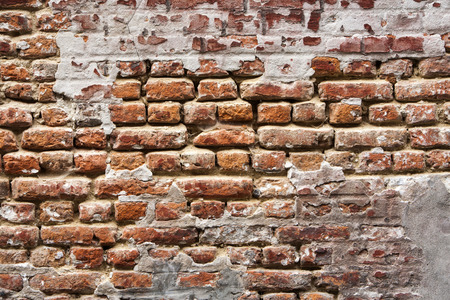 17th century: Brickwall wall from the 17th century in a traditional Belgian style. Stock Photo