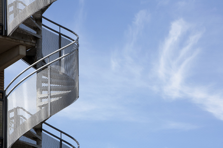 helicoid: Spiral staircase and a beautiful sky