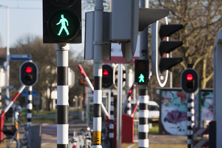 confundido: The city traffic lights and barriers are sometimes a bit confusing