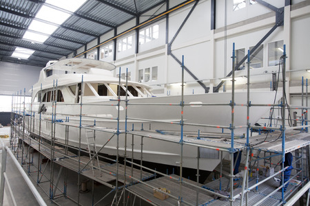 built: Shipyard where luxury yachts are built