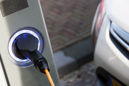 Electric Vehicle Charging point in the street