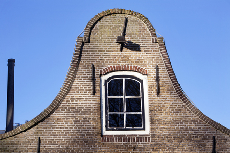 dutch culture: Typical Dutch facade with Wall ties in Vlaardingen, the Netherlands