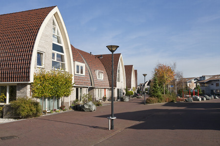 ijssel: Home zone in a residential district Stock Photo