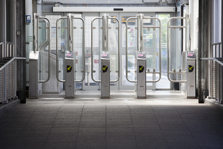 subway entrance: Entrance and exit of a subway station in Rotterdam, the Netherlands