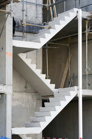 architectural feature: Staircase in a building under construction