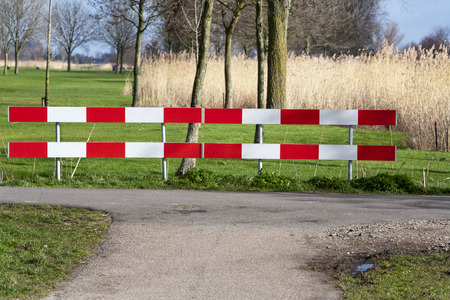 crossway: T intersection on a country road in the Netherlands