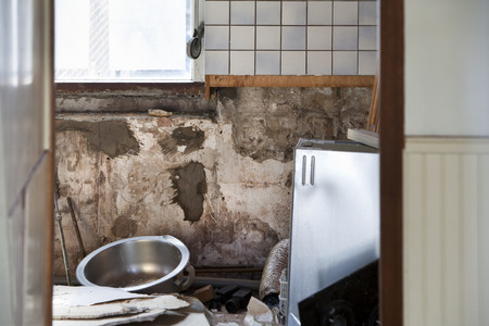 first step: Demolishing the kitchen is often the first step of home improvement