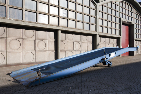 industrial district: Mobile ramp for loading or unloading a truck in an industrial district