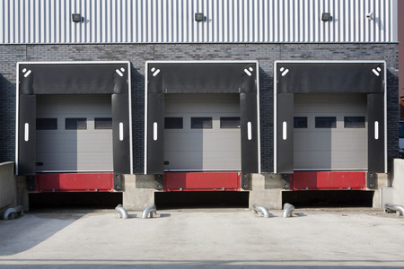 Warehouse loading dock without trucks Archivio Fotografico