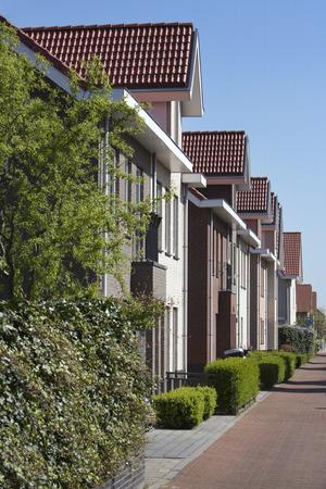 clase media: Barrio de clase media en los Países Bajos Foto de archivo
