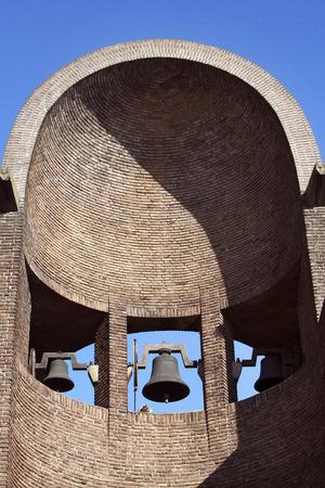 half open: Half open bell tower of a church