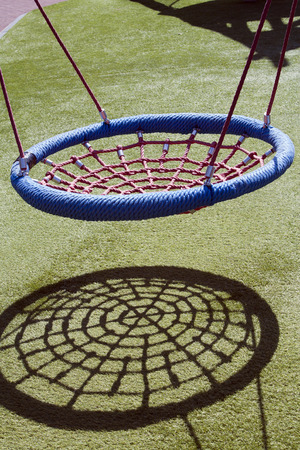 playground equipment: Artificial turf on the playground equipment for safety