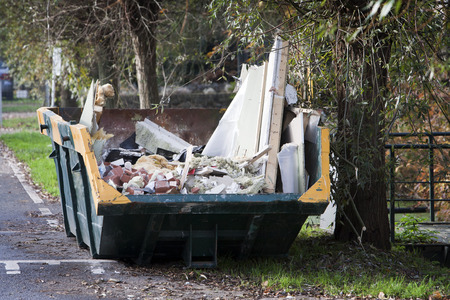 skip: Industrial skip for home improvement rubble