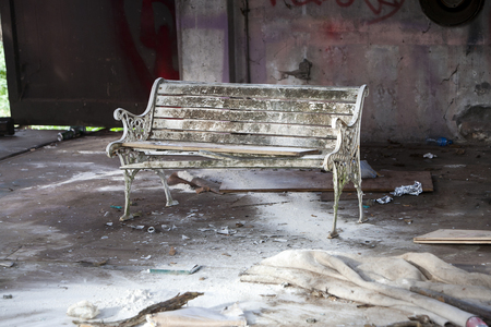 trashed: Vacant house used by junkies and homeless Stock Photo
