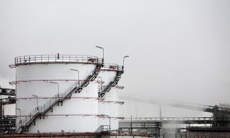 storage tanks: Storage tanks in the mist