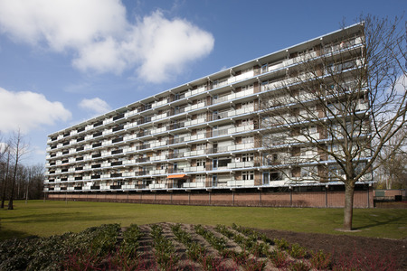 apartment block: Apartment block from the seventies in the Netherlands