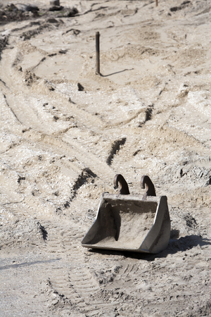 grab: Still life of a grab on the sand of a construction site
