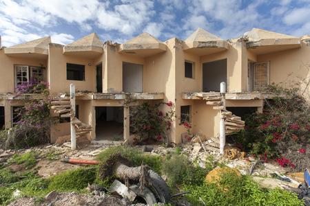 corralejo: Abandoned apartments in Corralejo on the island Fuerteventura