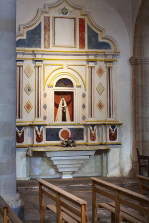saint mary: Statue of mother Mary in cathedral church of Saint Mary of Betancuria in Fuerteventura