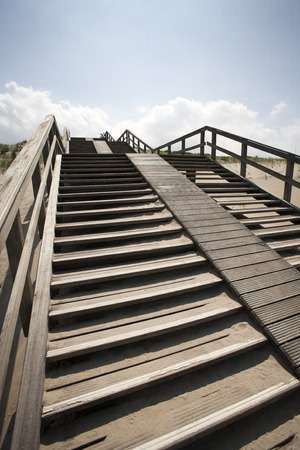 'the hague': Staircase in the dunes of The Hague in the Netherlands