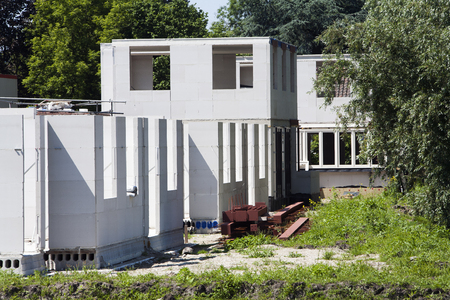 residential construction: Residential construction site in the Netherlands