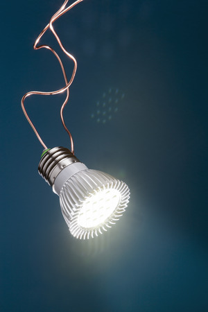 Energy saving LED light with copper wire
