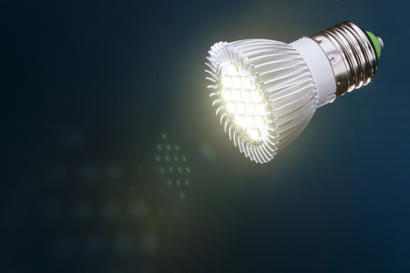 Energy saving  led light with flare and reflections