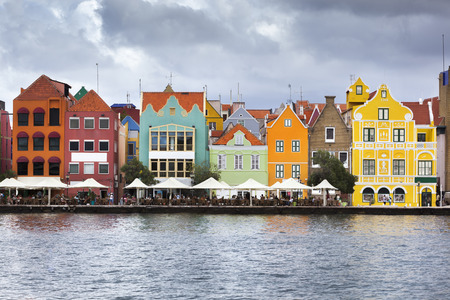 Colorful houses and building in Willemstad on Curacao