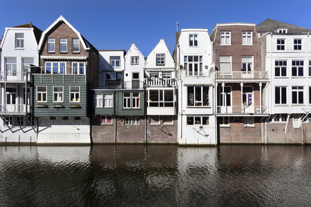 Traditional canal houses in Gorinchem in the Netherlands