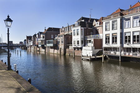gorinchem: Traditional canal houses in Gorinchem in the Netherlands