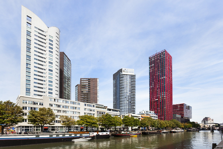 Offices and apartments in the center of Rotterdam in the Netherlands