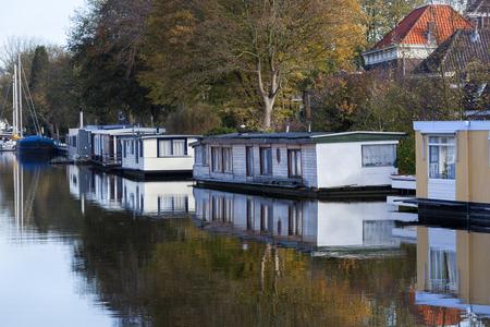 Woonboten in Gouda in Nederland