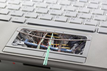 Computer- of netwerkonderhouds- of beveiligingsconcept